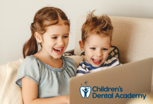 children's dental academy kid on laptop